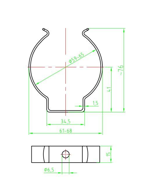 Federklammer K3 V2A (Serien 30/31/32/35)