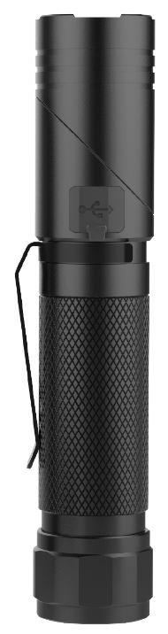*Akku-Taschenlampe Flexi-Lux - mit schwenkbarem Kopf, 1000 Lm und  UV-Funktion