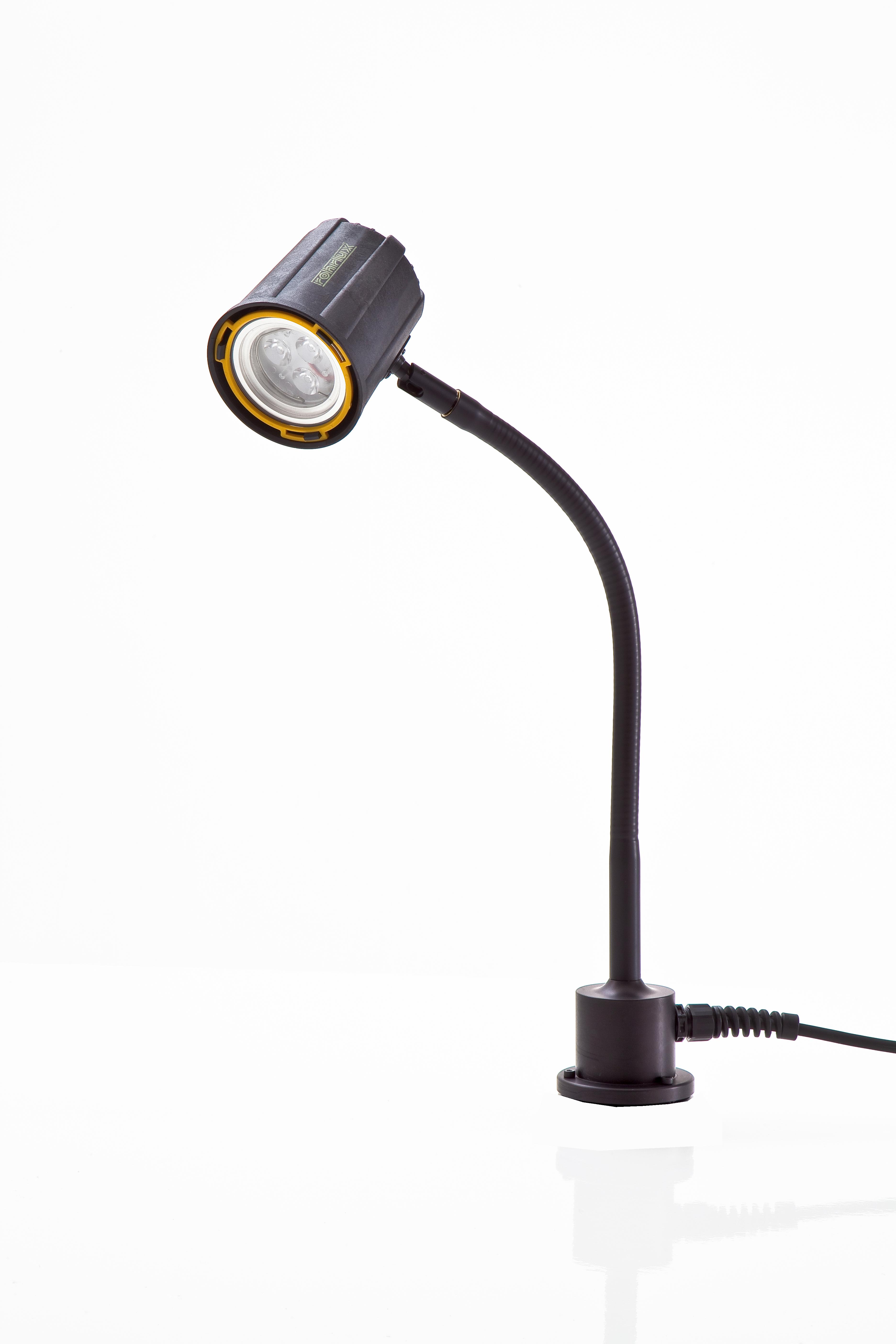 Serie 63: 10°/ Flex 400 mm/ Standfuß/ 12-24 Volt AC/DC