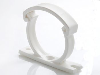 Weiße Kunststoffhalterung H5 (Serien30/31/32/35)